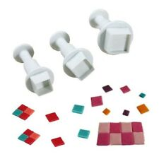 3PCS Square Shape Mold Cutter Fondant Cake Decorating Tool Cookie Sugar Craft