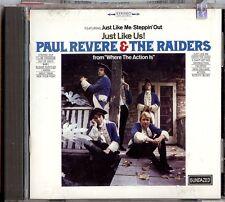 PAUL REVERE & THE RAIDERS - JUST LIKE US!  CD  1998  SUNDAZWED  +  BONUS