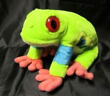 Wild Republic large green tree frog beanbag plush stuffed animal -13�