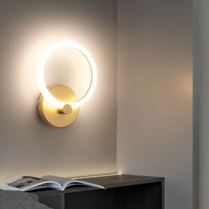 LED Wall Sconce Light Fixture Round/Square Bedside Night Lamp Living Room Aisle