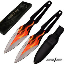 """2 piece 9"""" - Flamethrowers Throwing Knife Set - Tactical Knives - Perfect Point"""