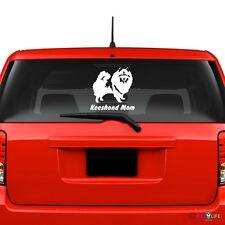 Keeshond Mom Windshield Sticker Vinyl Auto Window kees