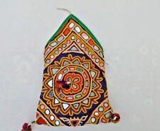 Old Vintage  Mirror Work BOHO HIPPIE Pom Pom Embroidered Clutch/Wallet/Purse/Bag