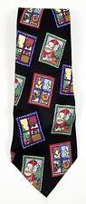 Save the Children randa corp Christmas Santa Reindeer Fireplace Mens Tie 58 x 4