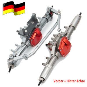 DE Legierung Vorder+Hinter Achse Front Rear Axle für Axial SCX10 1:10 RC Crawler