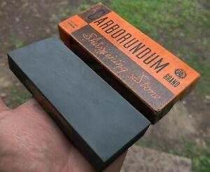 Vintage Carborundum Sharpening Stone Hone Razor Knife Tool IOB 111