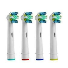 4 x TOOTHBRUSH REPLACEMENT HEADS COMPATIBLE  TO ORALB BRAUN FLOSS ACTION