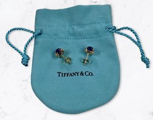 Tiffany & Co. 18k Yellow Gold Amethyst Sugar Stacks Stud Earrings