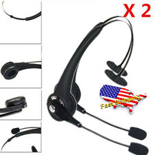 2PCS Noise Cancelling Wireless Handsfree Bluetooth Boom Mic Headset For Trucke2