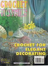 Vintage CROCHET MONTHLY MAGAZINE # 149 ~ DOILY tablecloth CUSHIONS bedspread