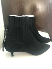 Massimo Dutti Black Ankle Boots Size 39 New