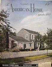 American Home Magazine September 1944 Ads Decor Crafts Parties Cooking Garden