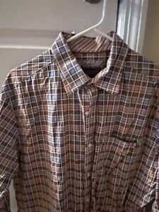 Johnston & Murphy Men's Large Plaid Shirt
