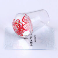 2Pcs/set XL Clear Jelly Silicone Head Nail Art Stamping Stamper & Scraper Tips