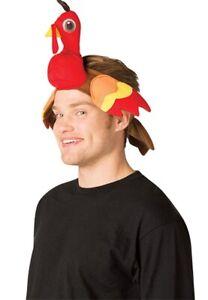 Happy Heads Thanksgiving Turkey Headband Adult Hat Halloween Costume Accessory