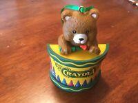1992 Crayola Crayons Bear On Drum Christmas Tree Ornament Binney & Smith