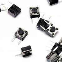 50PCS 6×6×4.3mm Tact Tactile Push Button Switch Side-2Pin