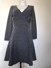 Free People S tweed cut out back fitted sexy winter dress NWOT