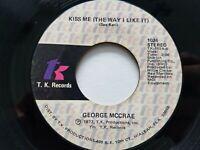 "GEORGE McCRAE - Kiss Me (The Way I Like It) 1977 DISCO SOUL 7"""