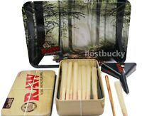 RAW LEAN Cones (15 COUNT) W TIN + Raw Lean CONE LOADER+ Raw Forest Tray