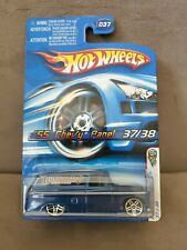 2006 HOT WHEELS First Editions '55 CHEVY PANEL #37 with Motorcycle in back.