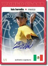 LUIS HEREDIA 2012 Rize Autograph Rookie RED BLANK BACK Auto WORLD CLASS RC 1/1