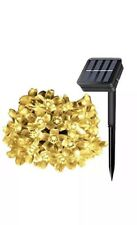 Greenclick 23Ft 50 Led Solar Outdoor Cherry Blossom String Lights Warm White