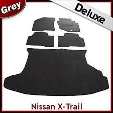 Nissan X-Trail Mk1 2001 - 2007 Tailored LUXURY 1300g Carpet Car & Boot Mats GREY