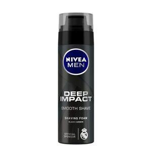 Nivea Men Deep Impact Smooth Shave Shaving Foam Black Carbon - 200 ML / 193 Gram