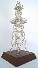 Oilfield model derrick oil well gift drill bit keychain rig pump jack gas texas