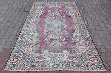 5x9ft Turkish Handmade Anatolian Antique Red Color Floral Design Rug