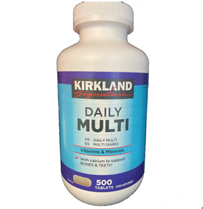 Daily Multi Vitamins & Minerals 500 x Tablets Food Supplement