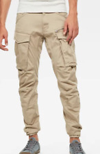 Gstar Rovic Zip 3D Straight Tapered Pants Jeans Mens Dune Size 28W 32L *REF104