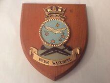 More details for vintage hand painted royal australian navy wall plaque, crest - hmas albatross