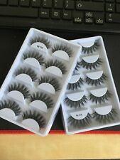 5 Pair 3D Eyelashes Mink False Eye Lashes Premium Fake Wispy Cross Long Thick UK