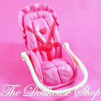 Fisher Price Loving Family Dollhouse Pink Girl Car Seat Baby Carrier Nursery