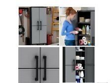 Outdoor Storage Cabinet Plastic Furniture Laundry Garage Pool Patio Lockable NEW