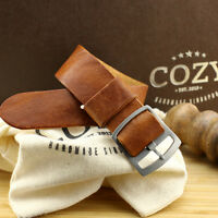 Vintage 403 One Piece Leather Watch Strap 18mm 20mm 22mm (Perlon Style)