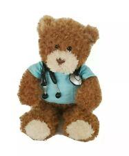 Gund Doctor Plush Bear Career and Lifestyle Teddy 11 Inch Stethoscope Scrubs