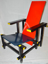 SEDIA VINTAGE DESIGN Gerrit Rietveld POLTRONA anni 80 old CHAIR Red and Blue ART