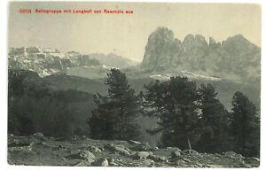 Sellagruppe mit Langkofl von Raschotz Stempel Turin 1909