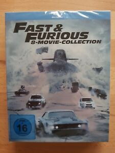 The Fast and the Furious 1-8 - 8 Blu-Ray - NEU&OVP BOX