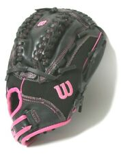 Wilson Softball Glove Flash Fast Pitch 11 in. Righ Hand Throw Leather Pink Black