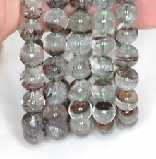 10MM PHANTOM QUARTZ GEMSTONE GRADE AA ROUND 10MM LOOSE BEADS 7""