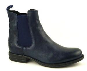 Post Xchange Stiefelette Jessy 755 4700 dunkel blau Damen Echtleder Chelsea Boot