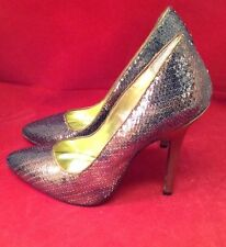 New Martinez Valero Bronze Brown Metallic Sequins High Heels Formal Shoe 5.5