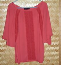EMBROIDERED VERY COMFORTABLE OASIS BLOUSE SIZE 16/42