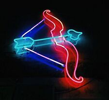 "New Cupid Love Arrow Wall Decor Real Glass Handmade Neon Light Sign 17""x14"""