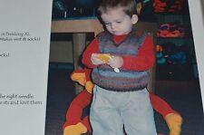 Black Purl Knitting Pattern:   Ethan Boys Sweater 6 mos to 3 yrs fingering yarn