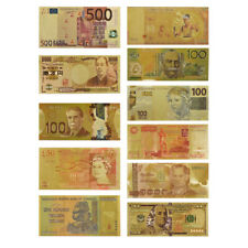 11pcs Gold World Banknote Paper Money Bulk Lot Collection In Gold Envelope